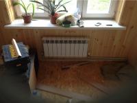Установка стального радиатора отопления
