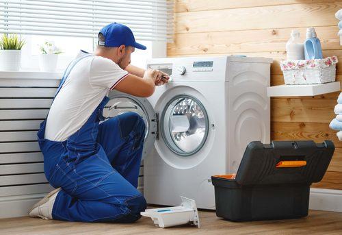 Установка отдельно стоящей стиральной машины в Москве