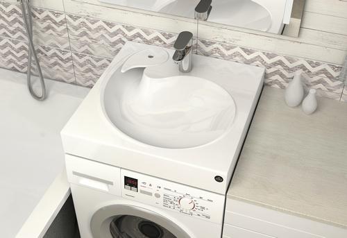 Установка стиральной машины под раковину в Москве