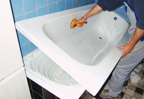 Замена акриловой ванны в Москве