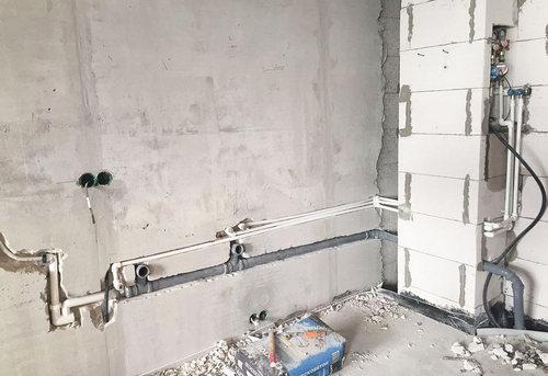 Замена труб канализации на кухне в Москве